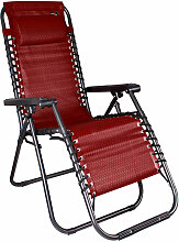Relaxsessel schwarz/Rot Jacuard-MM3749