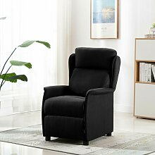 Relaxsessel Schwarz Stoff - Youthup
