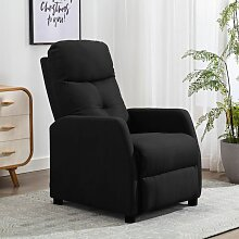 Relaxsessel Schwarz Stoff2144-A