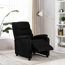 Relaxsessel Schwarz Stoff4435-A