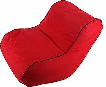 Relaxsessel Sessel Entspannung Sitzsack Sofa Schlafsessel Liege Gästematratze (rot)