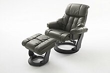 Relaxsessel, Sessel, Fernsehsessel, Ledersessel, TV-Sessel, Loungesessel, Lesesessel, Funktionssessel, schwarz, schlamm, Echtleder