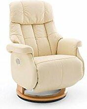 Relaxsessel, Sessel, Fernsehsessel, Ledersessel, TV-Sessel, Loungesessel, Lesesessel, Funktionssessel, creme, natur, elektrisch, Motor, Akku