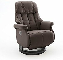 Relaxsessel, Sessel, Fernsehsessel, Ledersessel, TV-Sessel, Loungesessel, Lesesessel, Funktionssessel, braun, schwarz, manuelle Verstellung