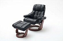 Relaxsessel, Sessel, Fernsehsessel, Ledersessel, TV-Sessel, Loungesessel, Lesesessel, Funktionssessel, schwarz, walnuss, XXL