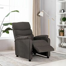 Relaxsessel Taupe Stoff - Youthup