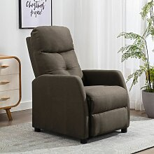 Relaxsessel Taupe Stoff