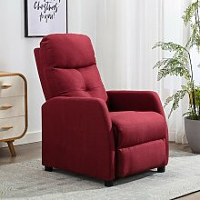 Relaxsessel Weinrot Stoff2145-A