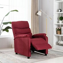 Relaxsessel Weinrot Stoff4436-A