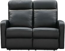 Relaxsofa 2-Sitzer elektrisch ABERDEEN - Leder -