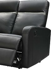 Relaxsofa 3-Sitzer elektrisch ABERDEEN - Leder -