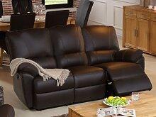 Relaxsofa 3-Sitzer Leder elektrisch Marcis - Braun