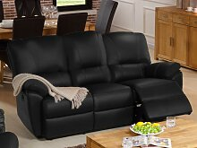 Relaxsofa 3-Sitzer Leder elektrisch Marcis -
