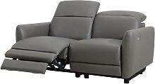 Relaxsofa elektrisch 2-Sitzer CLEOPHEE - Leder -