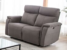 Relaxsofa elektrisch 2-Sitzer HENEL - Stoff - Taupe
