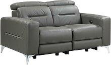 Relaxsofa elektrisch 2-Sitzer PAULY - Leder -