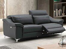 Relaxsofa elektrisch 3-Sitzer CAROLE - Leder -