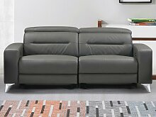 Relaxsofa elektrisch 3-Sitzer PAULY - Leder -