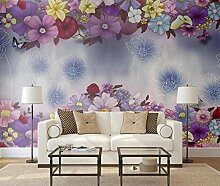 Relief Frisch 3D Tapeten -300Cmx220Cm Blumen -