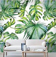 Relief Hellgrünes Blatt Tapete für Wohnzimmer