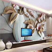 Relief-Tapete der Phalaenopsis 3D für