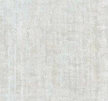 Relieftapete mit einfarbigem Druck grau gestickt