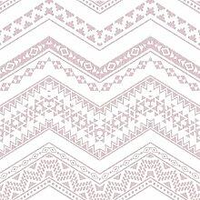 Relieftapete mit Zickzackprägung rosa auf weißem