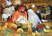 Religiöser Adventskalender mit Tiermotiven.