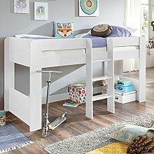 Relita Halbhohes Kinderbett in weiß ● inkl.