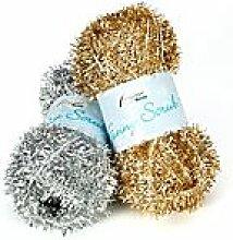 Rellana Wolle Funny Scrub, gold + silber -