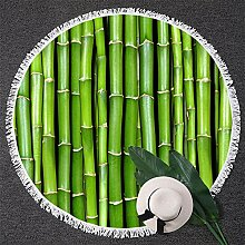 Relovsk Wandteppiche Bambus Runde Badetuch Grün