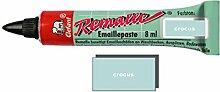 Remalle Emaille Paste Emaillelack Reparaturlack Lack in vielen Farben je 8 ml + Pinsel fuer jede Tube (crocus)