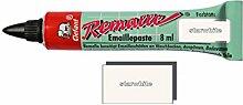 Remalle Emaille Paste Emaillelack Reparaturlack Lack in vielen Farben je 8 ml + Pinsel fuer jede Tube (starwhite)