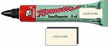 Remalle Emaille Paste Emaillelack Reparaturlack Lack in vielen Farben je 8 ml + Pinsel fuer jede Tube (alpinweiß)