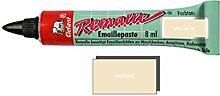 Remalle Emaille Paste Emaillelack Reparaturlack Lack in vielen Farben je 8 ml + Pinsel fuer jede Tube (natura)