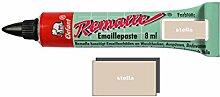 Remalle Emaille Paste Emaillelack Reparaturlack Lack in vielen Farben je 8 ml + Pinsel fuer jede Tube (stella)