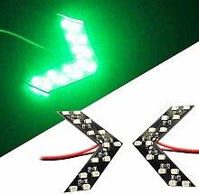 Remaxm 2 Stück LED Pfeil Panel Auto Rückspiegel