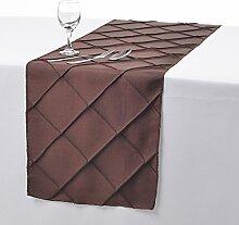 Remedios 5pcs 30x275cm Gitter Taft Tischläufer Hochzeit Küche Party Dekoration, Schokolade