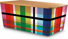 Remember - Brotbox mit Bambusdeckel, Zigzag
