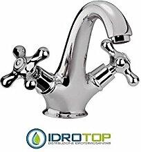 Remer–Wasserhahn Waschbecken mit Ablaufgarnitur pop–Serie Liberty–13lib