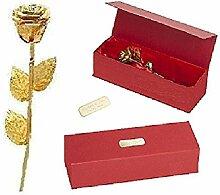 Remmo&Love LUXUS Goldene Rose mit Personalisierte