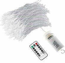 [Remote & Batterie] 3 m x 3 m 300 Warmweiß LED