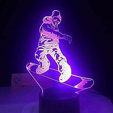 Remote Smart Touch Led Snowboard Lampe 7