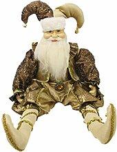 Renaissance 2000sitzend Elf Santa Figur, 66cm