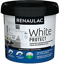 Renaulac Wandfarbe, Weiß, matt, 1 l