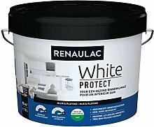 Renaulac Wandfarbe, Weiß, matt, 10 l