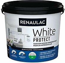Renaulac Wandfarbe, Weiß, matt, 5 l