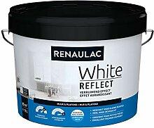 Renaulac Wandfarbe, Weiß, Reflect, Satin, 10 l