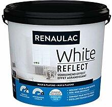 Renaulac Wandfarbe, Weiß Reflect, Satin, 5 l