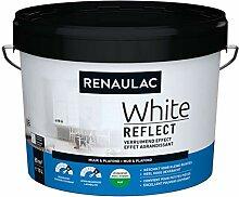 Renaulac White Reflect Wandfarbe, matt, 10 l
